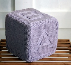 Antique pink alphabet cube