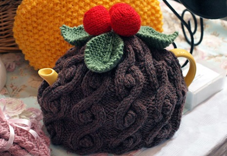 Christmas pud tea cosy