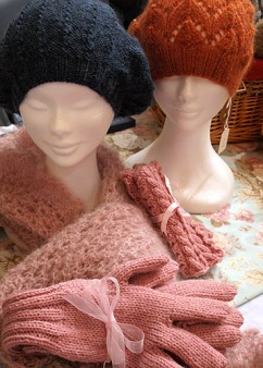 Hats, gloves, scarves and fingerless mittens