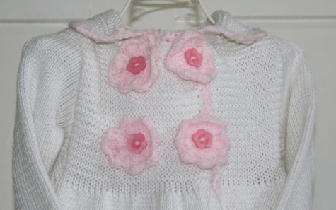 Pink flowers and trim