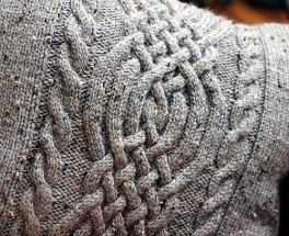 Celtic knot pattern, light grey