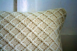 Lattice pattern, cream