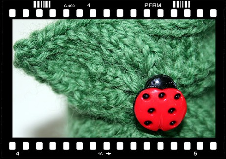 Green boot close-up