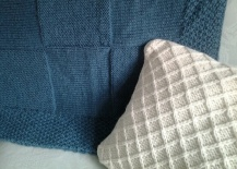 Green throw and cushion