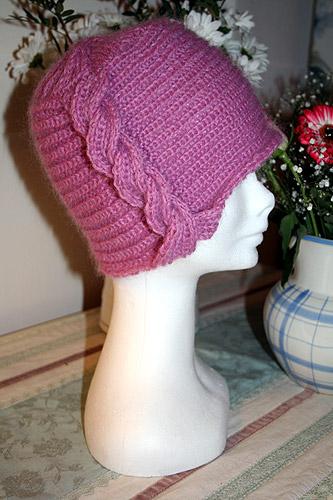 1920s cable hat, side